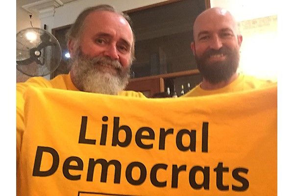 Roothy with fellow Liberal Democrats running mate Gabriel Buckley.