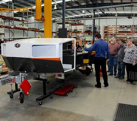 Tours of the new Bayswater, Vic, factory were a highlight for visitors.