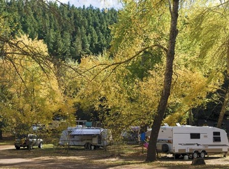 The curious campground at Mt Franklin, 9km north of Daylesford, is situated inside a volcano's crate