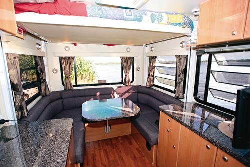 Talvor MacLeayn motorhome raised bed and lounge