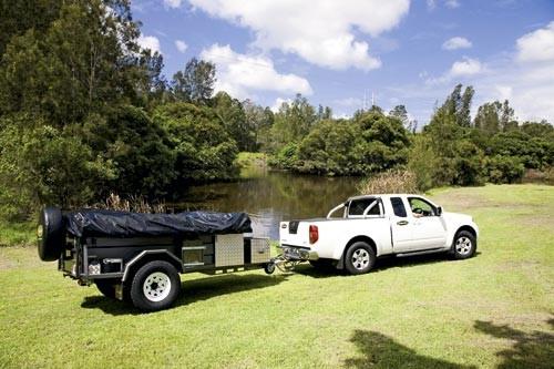 The Australian-made Customline Adventure Walk Up camper trailer sells for under $13,000.