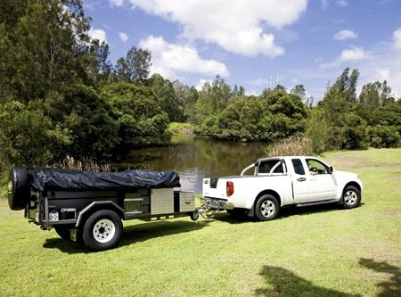 The Australian-made Customline Adventure Walk Up camper trailer sells for under $13,000.