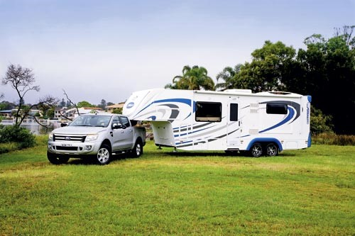 The Sunliner Fifth Wheeler has both space and style in abundance.
