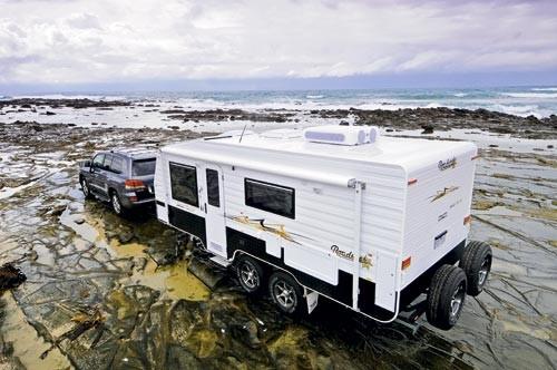 The Roadstar Safari Tamer caravan combines offroad capability with luxurious travel.