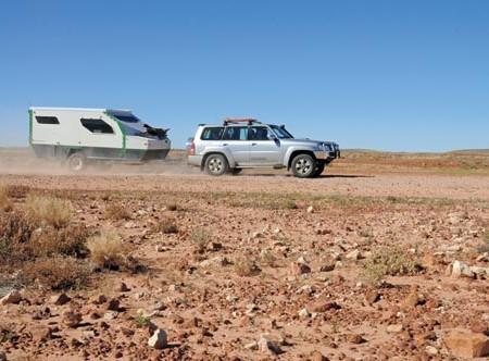 The Track Trailer Topaz Series II caravan hybrid. Is it a camper? A caravan? The best of both.