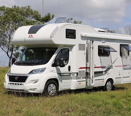 The Adria Coral motorhome.