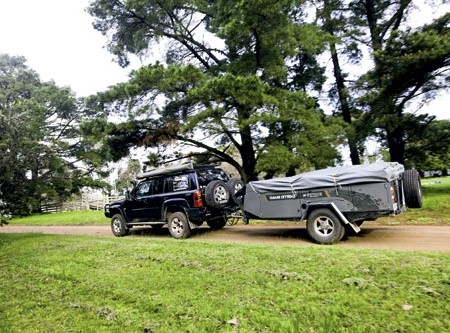 The Tanami OffRoad camper trailer from Outback Campers has heaps of storage.