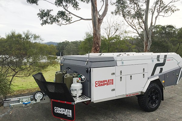 The Complete Campsite Fraser XTE has a short towing frame for easier access when negotiating tight t