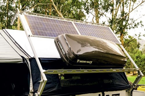 Solar panels to power your camper.