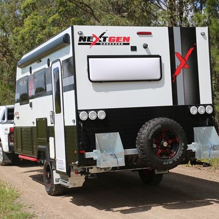 A NextGen X caravan by Green RV.
