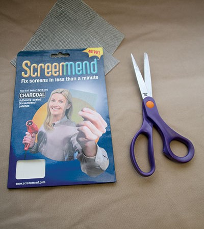 ScreenMend adhesive patches to fix flyscreens