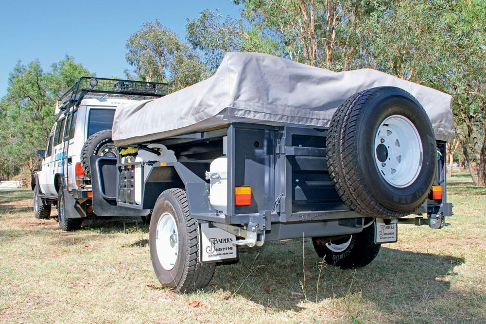 The J Campers Heavy Duty Off Road ready for action.