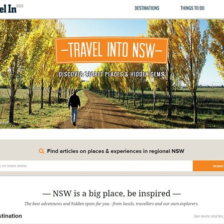 Travel In is a new online destination for visitors to inland NSW.