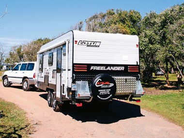The Freelander from Lotus Caravans will make for a fien companion on trips around Australia.