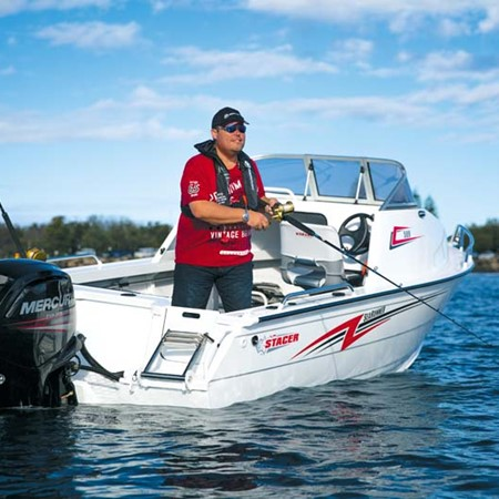 The Mercury 90hp FourStroke outboard motor is a based on a dedicated marine engine, rather than a ma