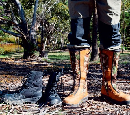 A pair of soaked sandshoes won't cut the mustard when you actually need galoshes