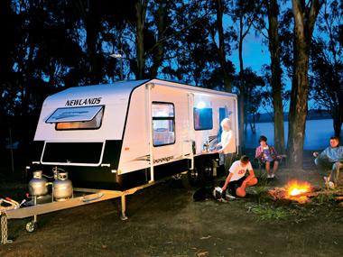 Newlands Caravans Onyx at campsite
