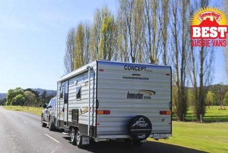A pop top caravan