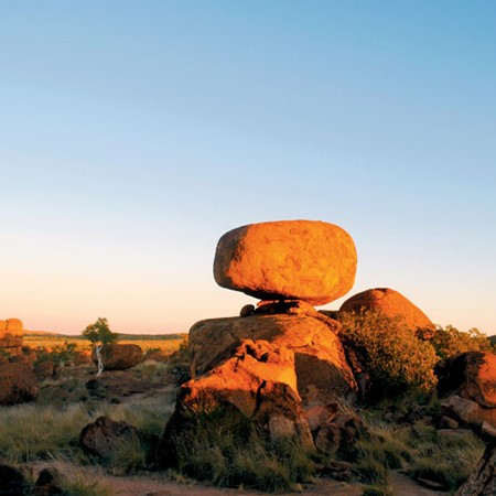 The closest town is 110km north of The Devils Marbles.