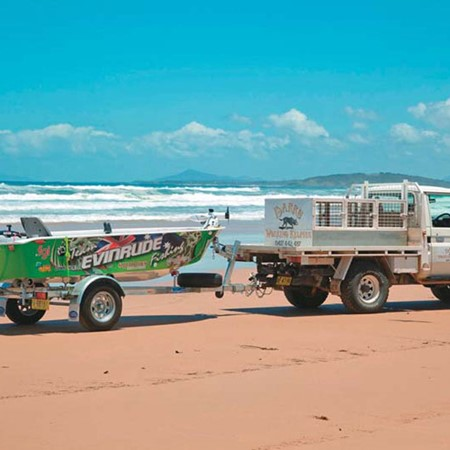 Beach launching is a hassle but it can give you access to waters often relatively untouched by angle