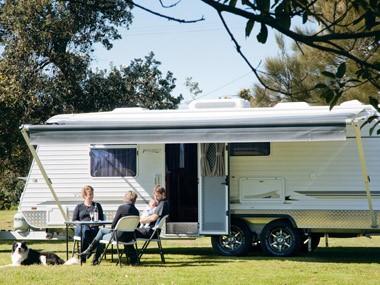 Paramount Caravans Classic at campsite