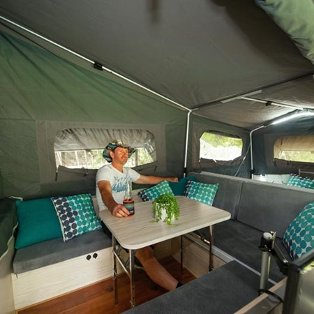 Finding comfort in inclement weather might mean looking no further than your camper's interior