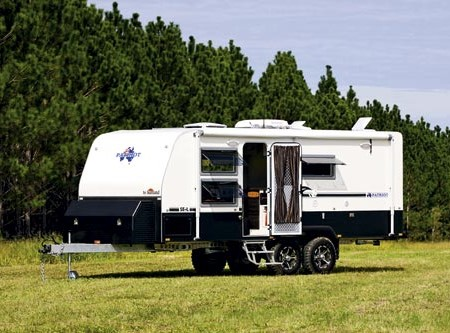 The Sunland Patriot SE-L is a capable offroad caravan.