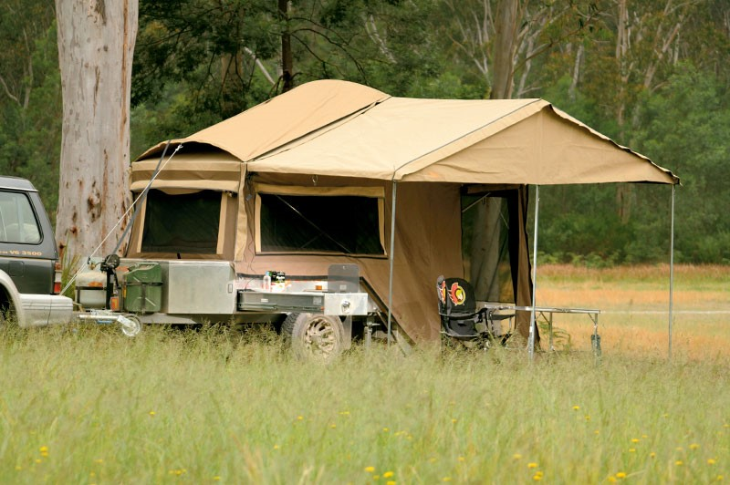 The Adrenalin Campers Rush fully set up.