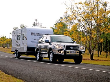 The US-made Forest River RV Wildwood caravan is on its way to Australia.
