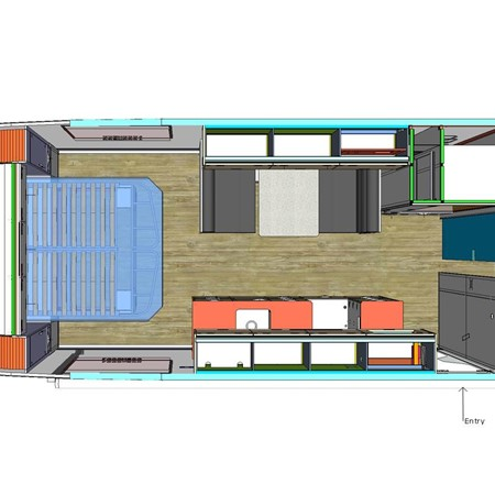 A floorplan of the new Zone RV Venture Series.