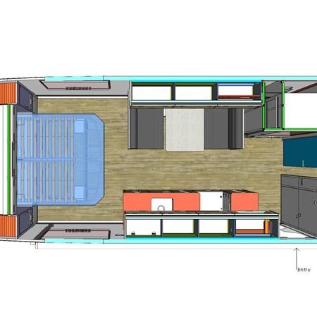 A floorplan of the new Zone RV Venture Series.