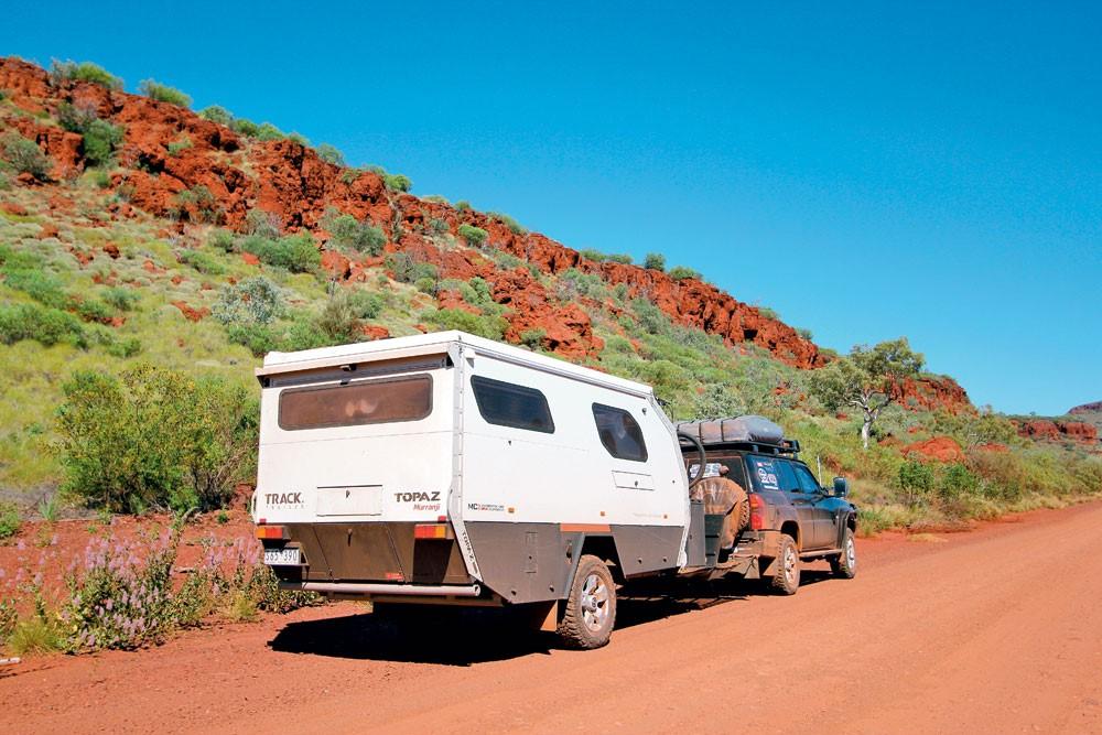caravan in Karijini National Park, WA.