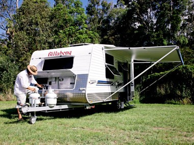 Melbourne's Billabong Caravans Eagle Bay caravan settles in.