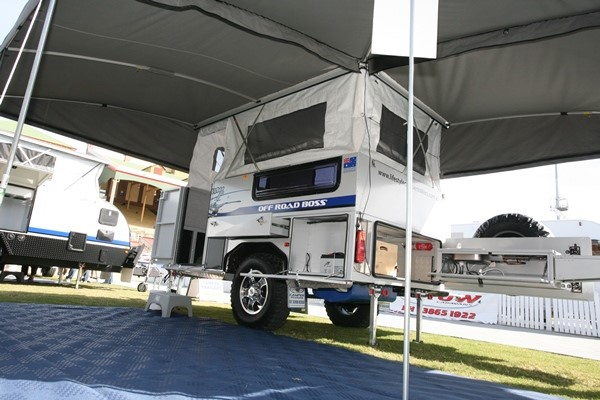 The Lifestyle Elite Breakaway is a new pop-top style camper with a solid roof.