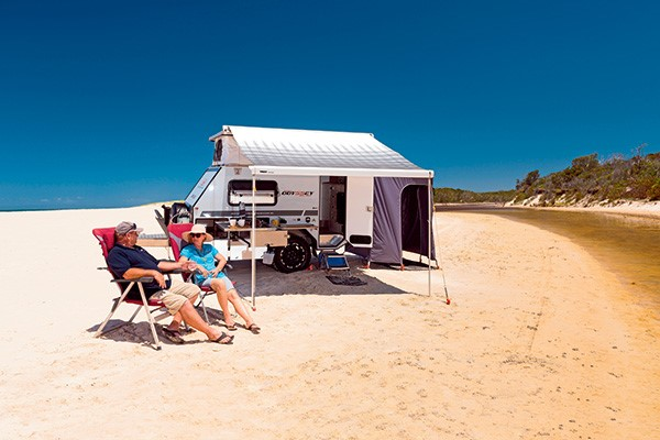 Make escaping to the great outdoors an easy process by hiring your very own camper trailer.