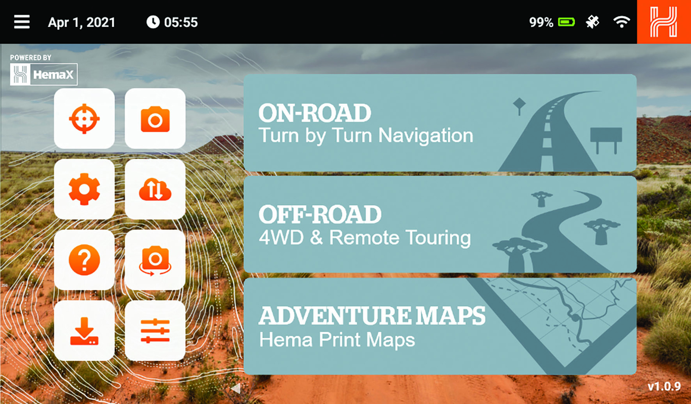 A screengrab of the Navigator in use