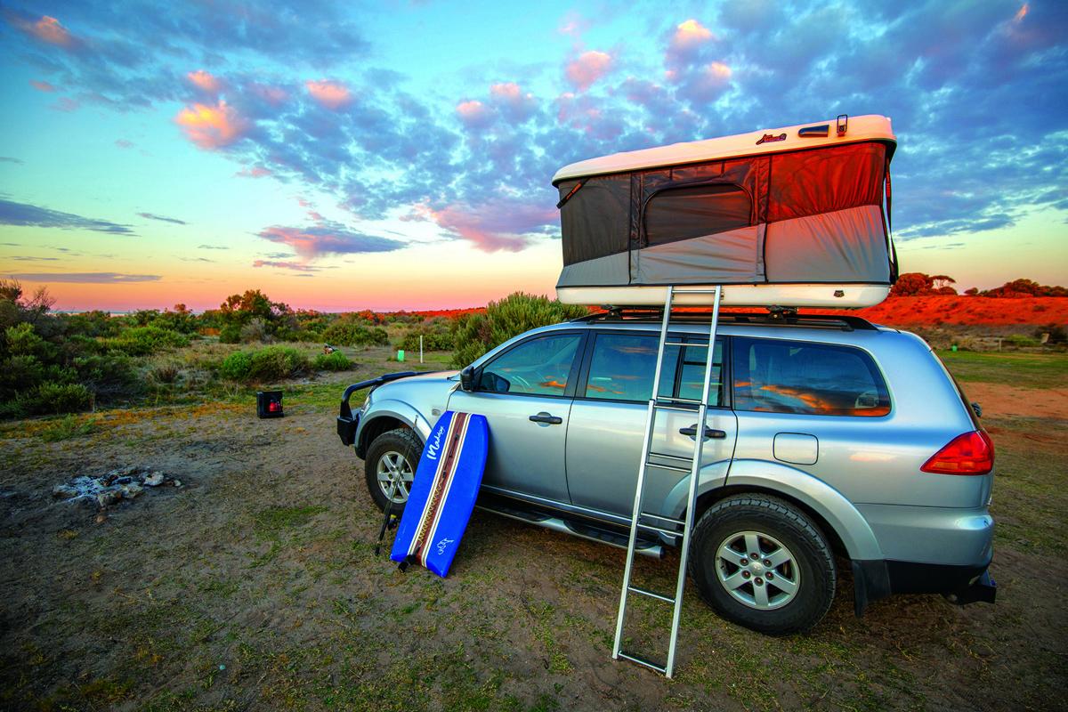 The RTT set up at sunset