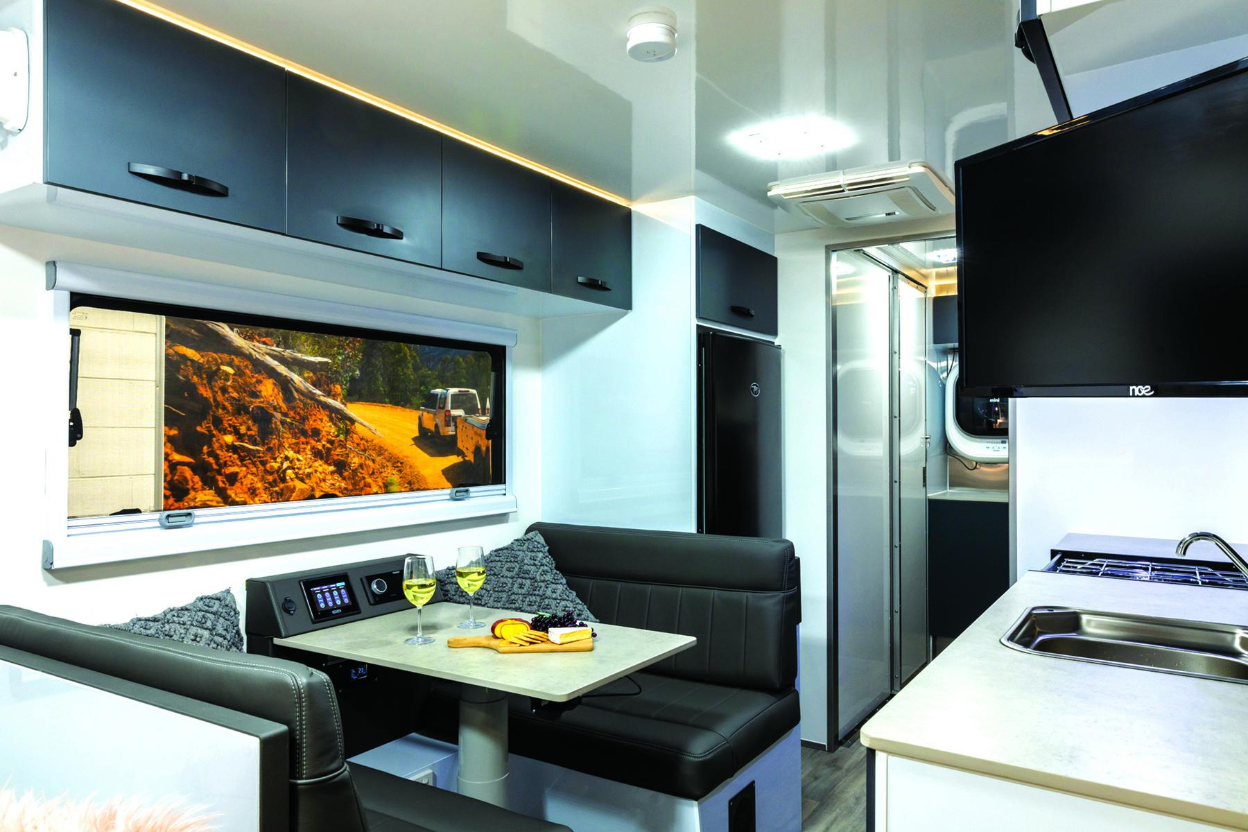 Mountain Trail RV caravan interior