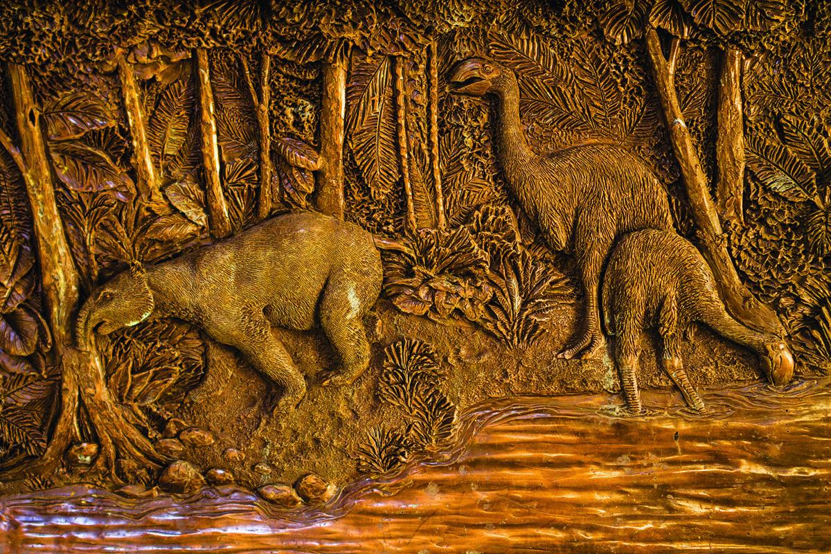 Images of extinct animals