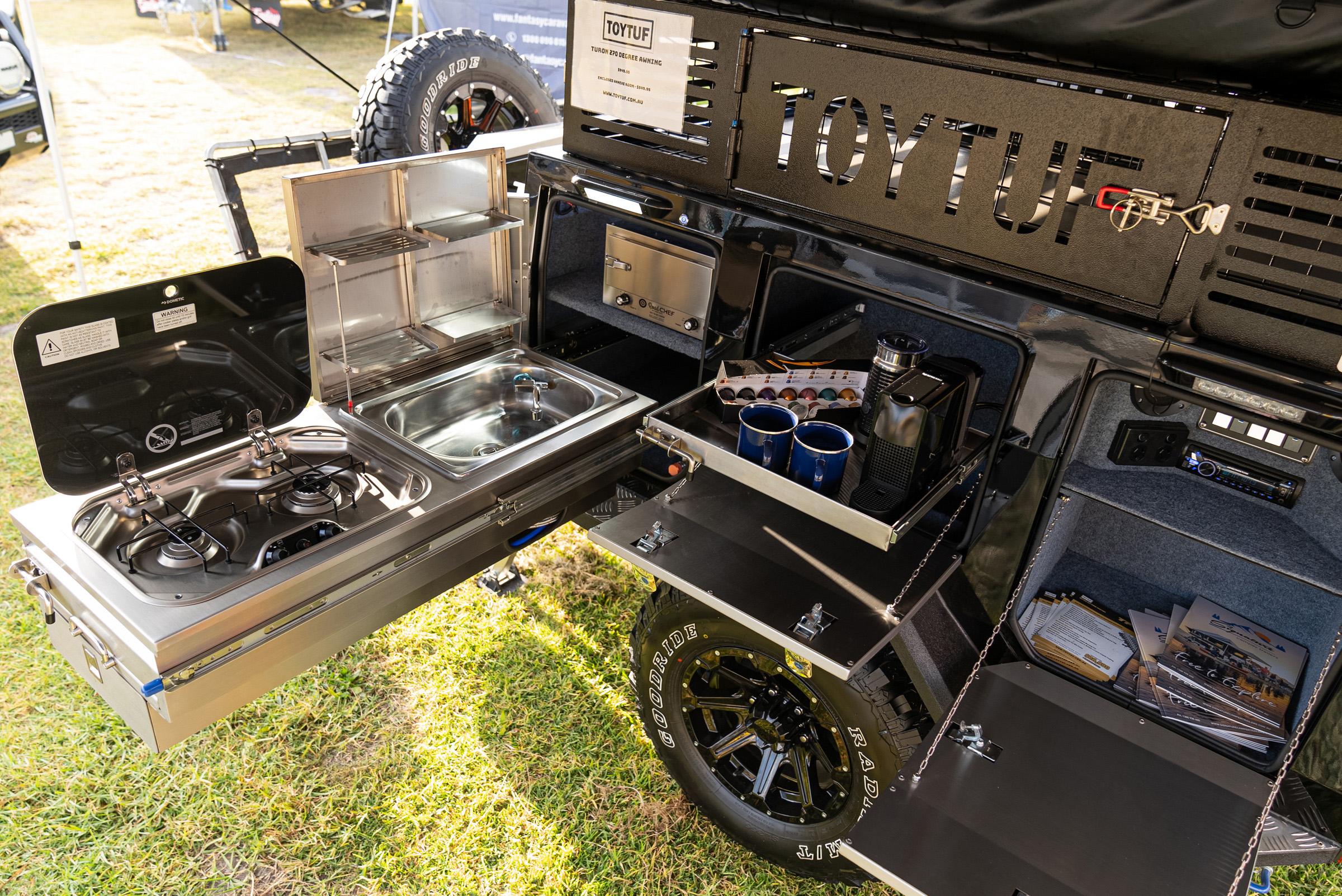 ToyTuf camper trailer kitchen