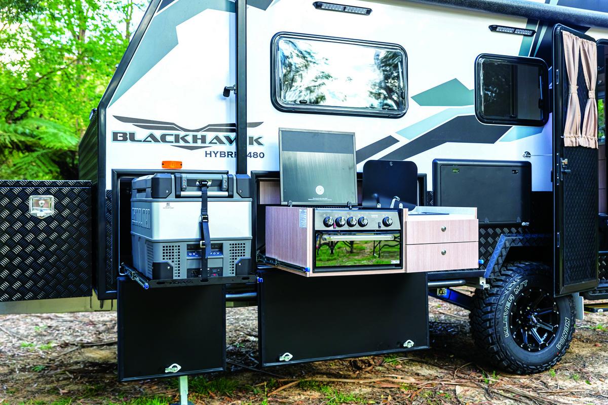 Blackhawk Titan caravan external kitchen