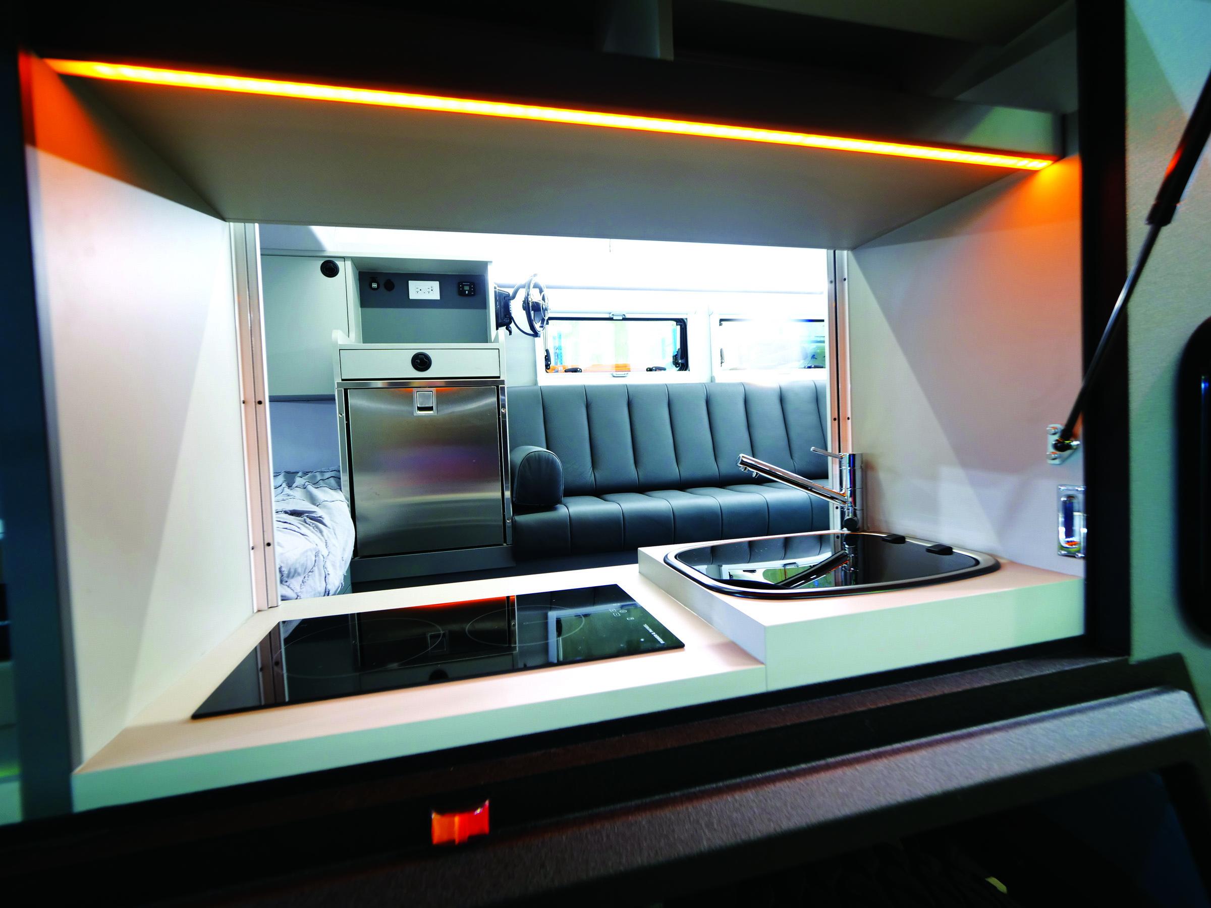 Bruder EXP-6 caravan kitchen