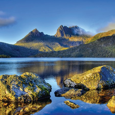 The starting point, Cradle Mountain. PICTURE CREDIT: Hans Harms/Getty Images