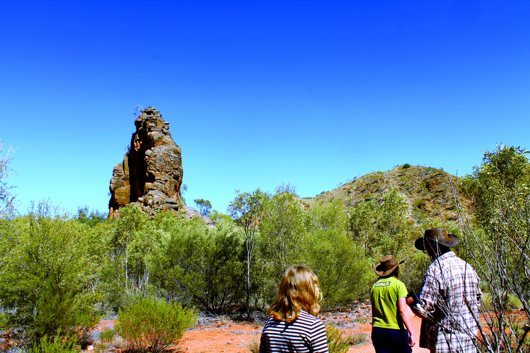 Corroboree Rock used to be a well known meeting place for the Indigenous