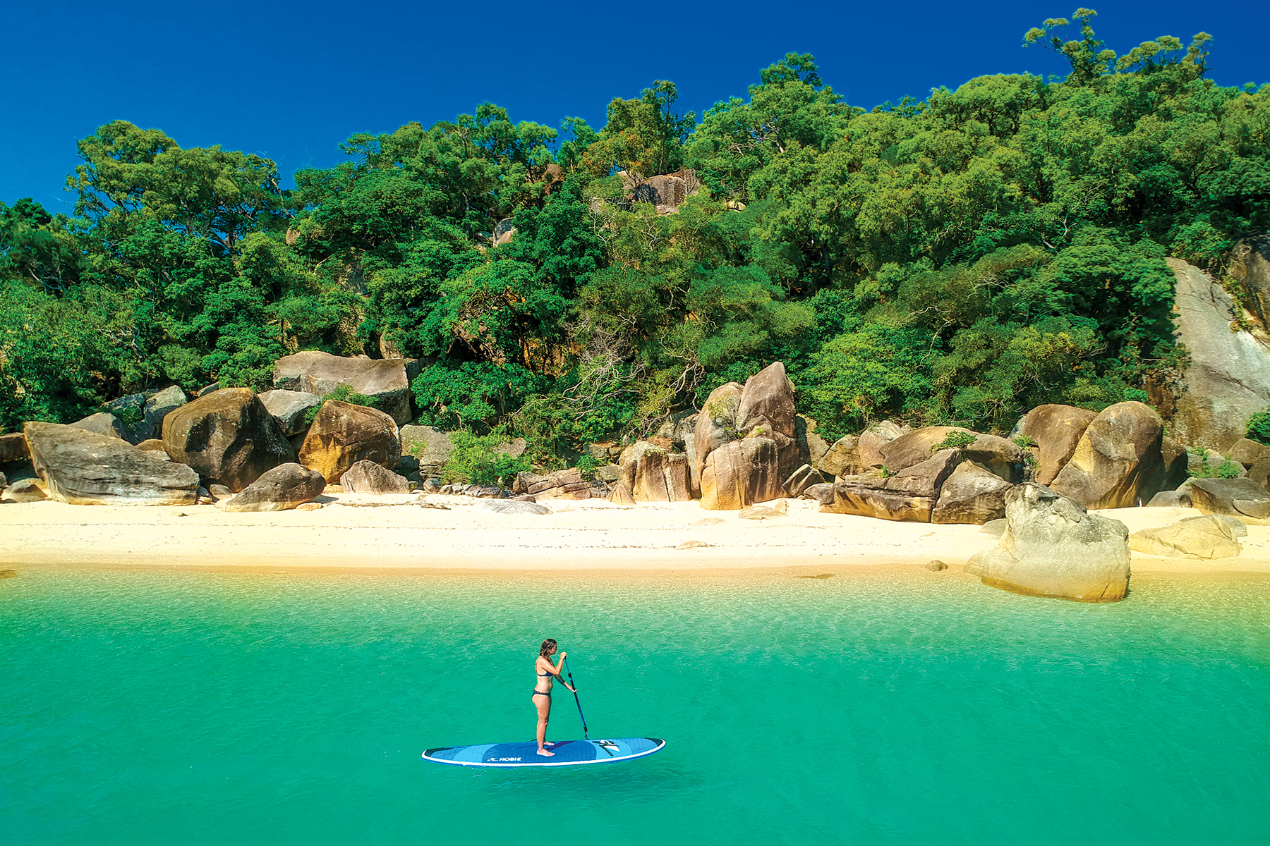 Orpheus Island – Stand-up paddle-boarder. PICTURE CREDIT: Mark Fitzpatrick