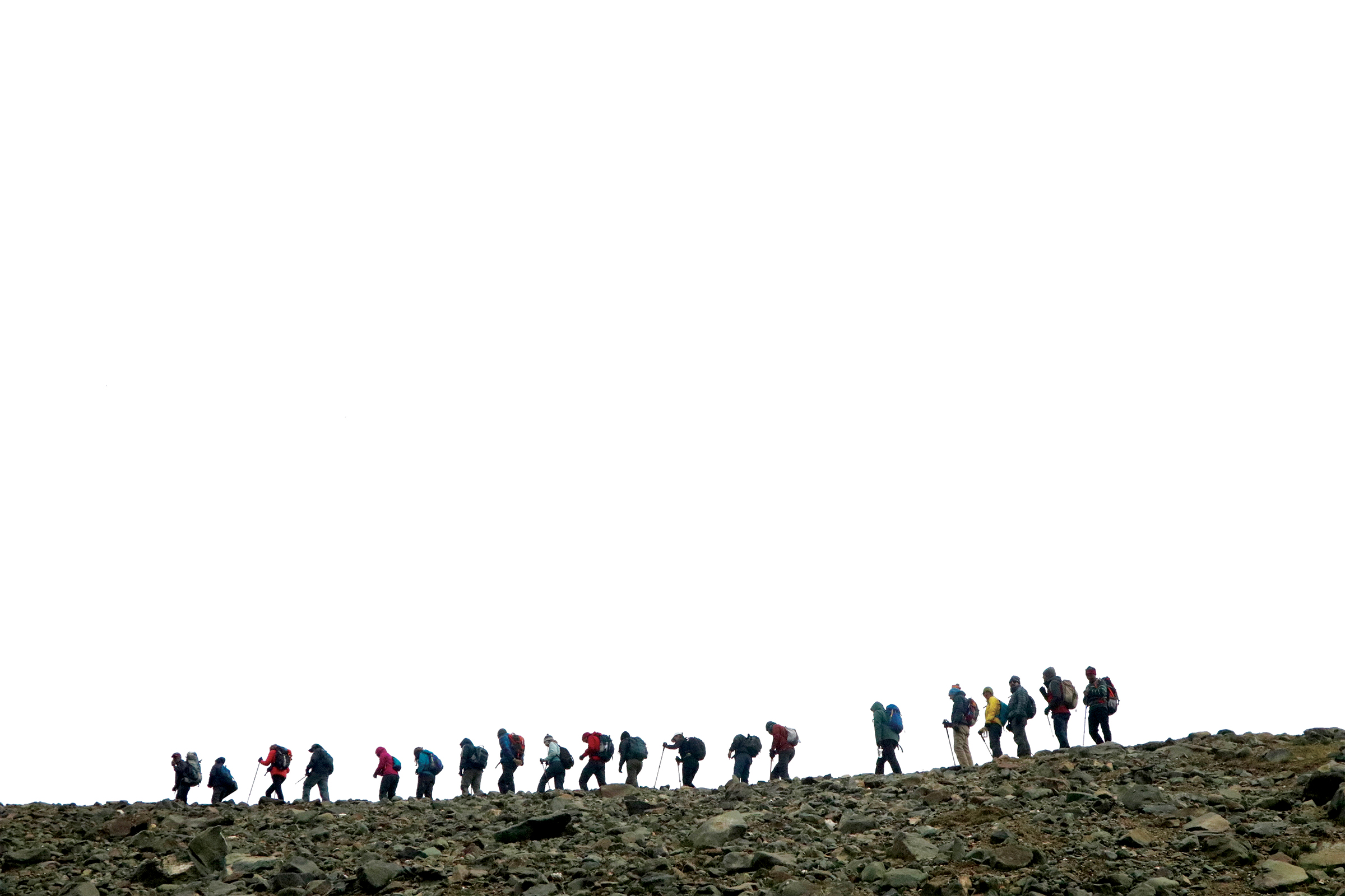 The GHE expedition team on the march. PICTURE CREDIT: GHE