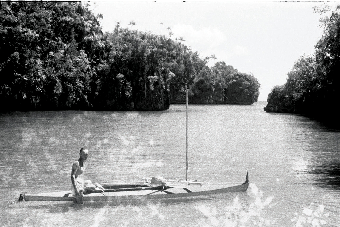 Oskar Speck on the water. PICTURE CREDIT: Australian National Maritime Museum