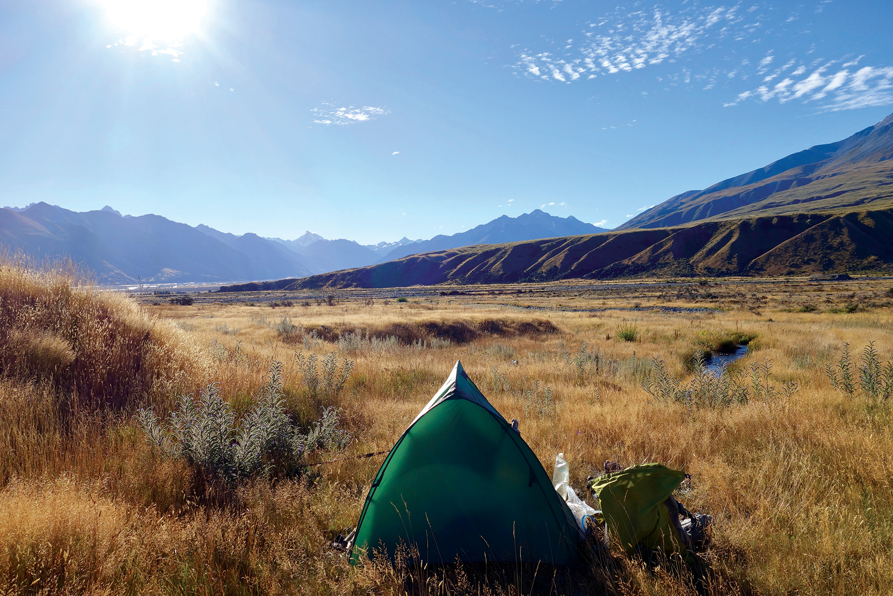 Just the tent, yourself and a few essentials