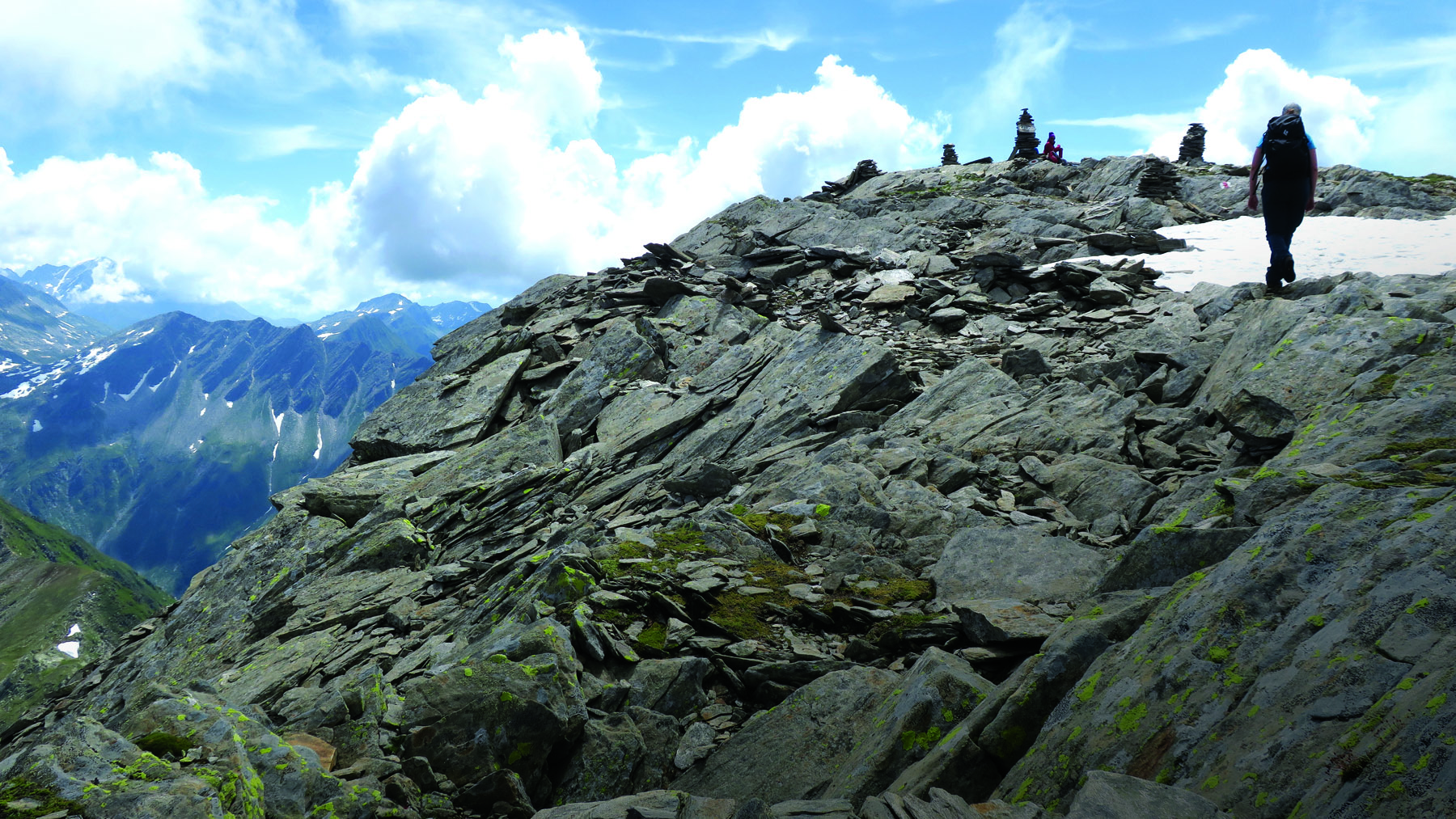 Summitting Giübin for a picnic lunch on our way to the Gotthard Pass
