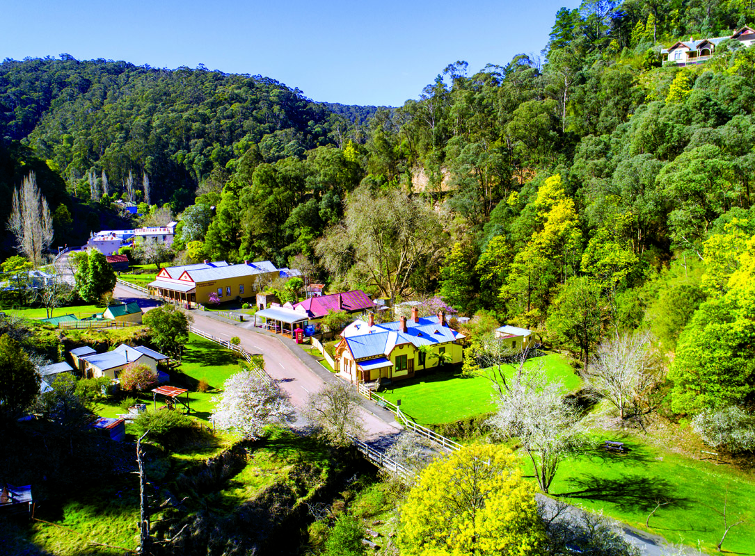 The view from above town in Walhalla. PICTURE CREDIT: Visit Victoria/David Hannah